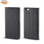 Takeme Magnēstikas Fiksācijas Sāniski atverams maks bez klipša Huawei Honor 8X Melns