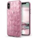 Blun 3D Prism Formas Super PlÄ?ns silikona aizmugures maks-apvalks priekÅ? Apple iPhone X / iPhone XS RozÄ?