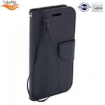 Takeme Fancy Diary Book Case ar stendu Samsung Galaxy A7 2018 (A750) sāniski atverams Melns