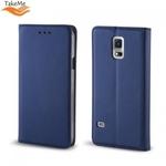 Takeme Magnēstikas Fiksācijas Sāniski atverams maks bez klipša Samsung Galaxy A750 Galaxy A7 (2018) Tumši Zils
