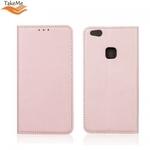 Takeme Magnēstikas Fiksācijas Sāniski atverams maks bez klipša Huawei Honor 10 Lite Rozīgi zeltains