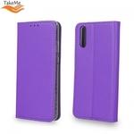 Takeme Magnēstikas Fiksācijas Sāniski atverams maks bez klipša Huawei Honor 10 Lite Violets