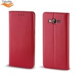 Takeme Magnēstikas Fiksācijas Sāniski atverams maks bez klipša Huawei Mate 20 Pro Sarkans