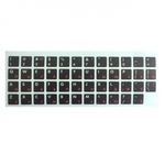 HQ Uzlīmes klaviatūrai ENG balts / RUS sarkans Qwerty Melns Fons