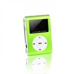 Setty Metal Clip MP3 Pleijeris ar FM Radio LCD Displeju Micro SD slotu līdz 32GB biebūvētu Li-Ion Batereju Zaļš