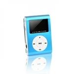Setty Metal Clip MP3 Pleijeris ar FM Radio LCD Displeju Micro SD slotu līdz 32GB biebūvētu Li-Ion Batereju Zils