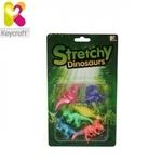 Keycraft CR77 Gumijas Dinozauru figūriņu (6cm) komplekts (6gab.) bērniem no 3+ gadiem Krāsainie