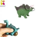 Keycraft NV378 Smieklīgs Saspiežamais Anti-stress atslēgu piekariņš - Triceratops (5.5cm) Zaļš
