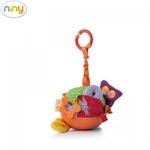 Niny 700004 Mīksta piekaramā rotaļlieta - Attīstošā bumba bērniem no 0+ gadiem (Diam. 13cm)