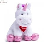 Lumpin 94118 Mīksta rotaļlieta balts Vienradzis Lucy Lu (20cm) Balts ar rozā
