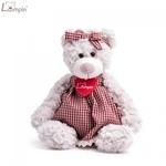 Lumpin 94117 Mīksta rotaļlieta Lācene Sára kleitā bērniem no 0+ gadiem (maza izm. 24cm)