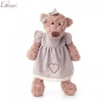 Lumpin 94108 Mīksta rotaļlieta Lācene kleitā bērniem no 0+ gadiem (maza izm. 33cm)