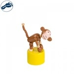 Small foot 11119 Eko koka rotaļlieta - nospiežot sāk kustēties bērniem no 3 gadiem + (11x5cm) Mērkaķis