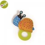 Oops Snail Rotaļlieta zobiņiem bērniem no 3m+ (17x4x12cm) Krāsaina 13007.13