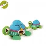 Oops Turtle Daudzfunkcionālā attīstoša rotaļlieta bērniem no 3m+ ar vibrāciju / pīkstinātāju un elementu zobiņiem Krāsaina 11006.00