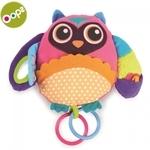 Oops Owl Daudzfunkcionālā attīstoša rotaļlieta bērniem no 3m+ ar grabuļīša elementiem (16x13cm) Krāsaina 11002.00