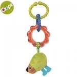Oops Pic Piekaramā rotaļlieta-grabulis ar riņķiem bērniem no 0m+ (19x5.5x12cm) Krāsaina 11010.24