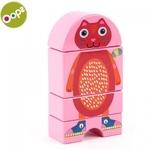 Oops Cat Koka attīstoša rotaļlieta bērniem no 12m+ (Iepak. izm. 16x3.4x11cm) Rozā 16007.21