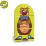 Oops Forest Koka attīstoša rotaļlieta bērniem no 12m+ (Iepak. izm. 16x3.4x11cm) Zaļa 16007.11
