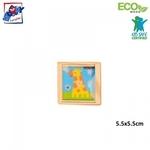 Woody 90735 Eko koka izklaidēsošā Zaļa ar puķēm rotaļlieta Yo-Yo bērniem no 3 gadiem + (6cm) (1)