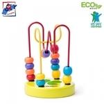 Woody 90064 Roku un pirkstiņu motorikas Attīstošs Eko koka mini labirints bērniem no 2 gadiem + (9x12.5сm)