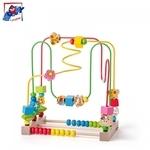 Woody 91932 Roku un pirkstiņu motorikas Attīstošs labirints bērniem no 2 gadiem + (27x27.5x17cm)