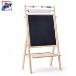 Woody 90109 Divpusīga krītiņu & magnētiskā tāfele ar papīra rulli bērniem no 3 gadiem + (42.4x83.7x20.7cm)