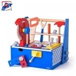 Woody 91935 Liels Koka instrumentu komplekts koka glabāšanas kastē bērniem no 3 gadiem + (31.8x27x13.5cm)