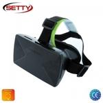 """Setty 3D Universālas 3.5-6"""" Mobīlā telefona Virtuālās Realitātes VR Brilles ar ērtu Klipša fiksācijas sistēmu Balta"""
