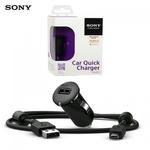 Samsung Sony AN401 Universal 1.2A USB Plug Car 12/24V Quick Charger + 1.2m Micro USB Cable Black (EU Blister)