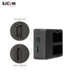 Sjcam Oriģināls SJ8 Divu USB Ligzdu USB DC 4.2V 0.8A Akumulātoru Lādētājs ar Micro USB vai Mini USB Kabeli