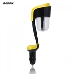 Remax RT-C01 Auto Salona Gaisa mitrinātājs un Divu USB 2.1A Lādētājs Planšetdatram un telefonam 12V DC Melns
