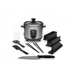 Tristar RK-6140 Rice Cooker + Free Sushi Set 0.6L Capacity -Stainless Steel Housing