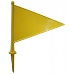 Acito florbols Plastikāta karodziņš ( dzeltens ) izmērs: 29 x 22 cm