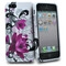 Apple iPhone 5 white rose floral design silicone case cover bumper maks