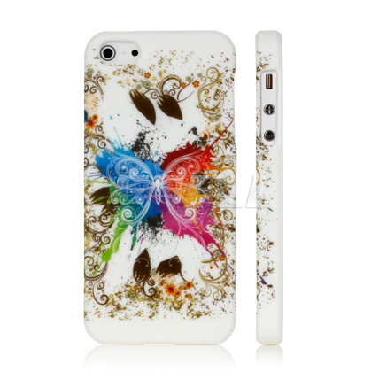 Apple iPhone 5 Butterfly silicone gel back case cover maks
