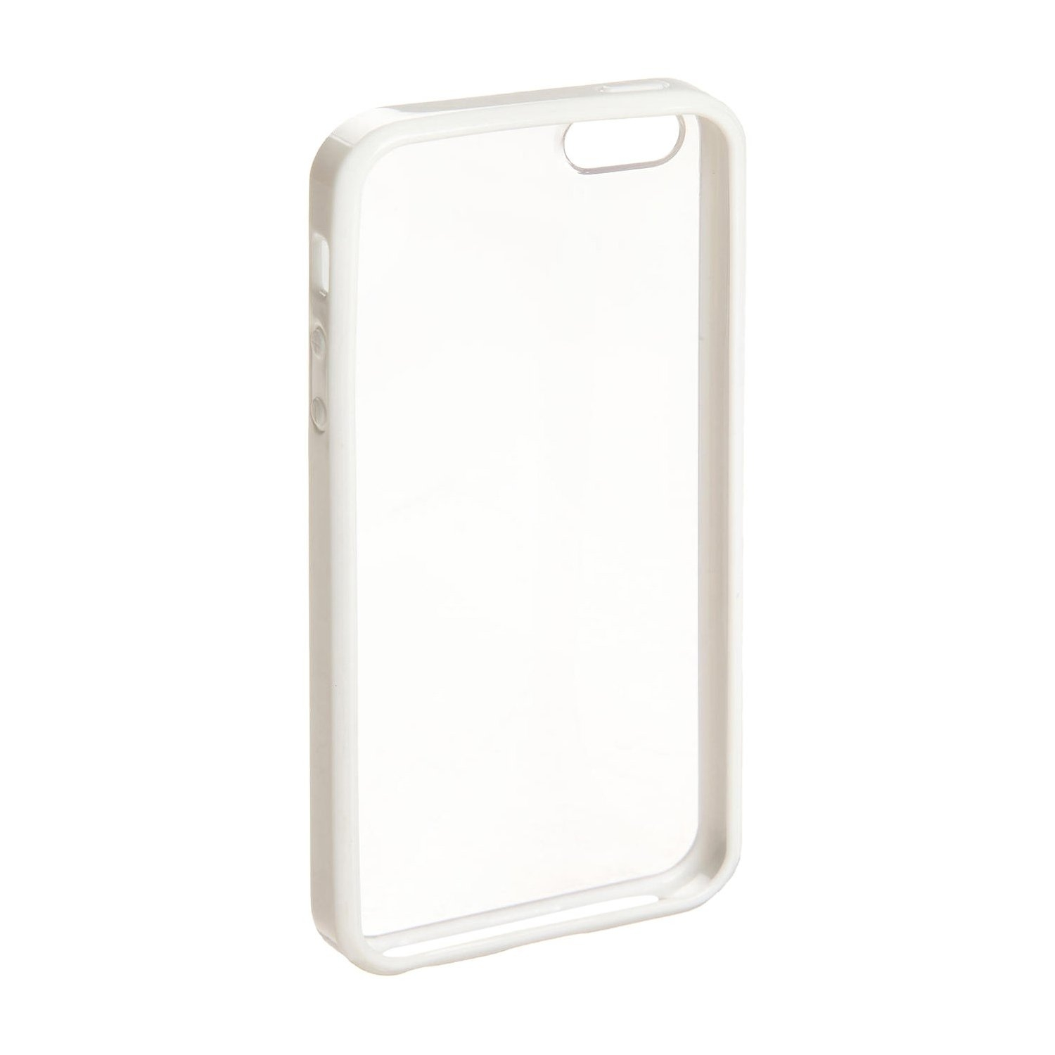 Apple iPhone 4/4S Clear Hard Coating Cover Back Case Bumper clear white maks