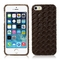 Apple iPhone 5/5S Diamond Weave Design Leather Back Case Cover Black Brown maks