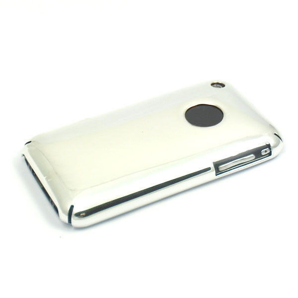 Apple iPhone 3/3G/3GS Deluxe Silver Chrome Mirror Back Case Cover maks