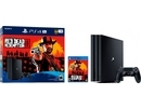 Sony Playstation 4 PRO 1TB (PS4) BLACK + Red Dead Redemtion 2