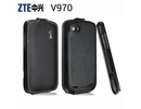 ZTE Grand X V970/U970 Real Leather Luxury Flip Case Cover maks
