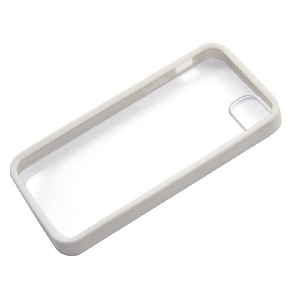 Apple iPhone 5 Clear Hard Coating Cover Back Case Bumper clear white maks