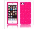 Apple iPhone 5 Luxury Diamond Hot Pink Silicone Case Cover Bumper maks
