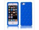 Apple iPhone 5 Luxury Diamond Blue Silicone Case Cover Bumper maks