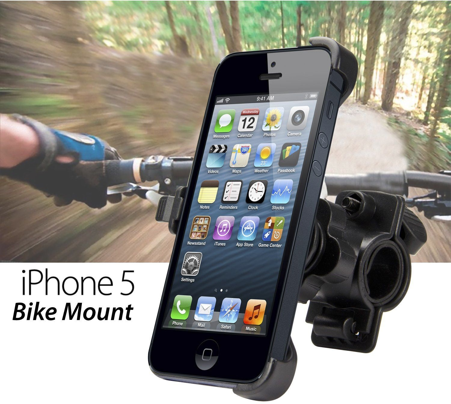 Apple iPhone 5 Bike Bicycle Cycling Cradle Mount Holder Moto Velo turētājs
