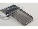 Apple iPhone 5 Silicone Soft Crystal Black Clear Back Case Bumper maks