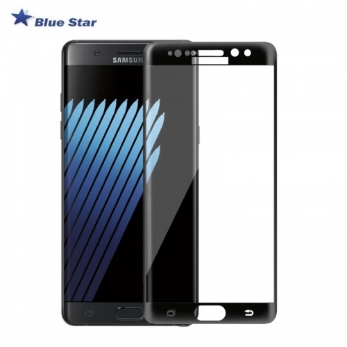 Bluestar BS Tempered Glass 9H Extra Shock Aizsargplēve-stikls Samsung N930F Galaxy Note 7 Full Face Melns (EU Blister)