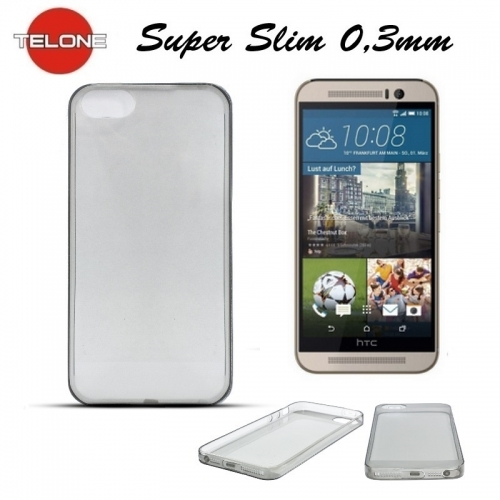 Telone Ultra Slim 0.3mm Back Case HTC One M9 super plāns telefona apvalks Melns