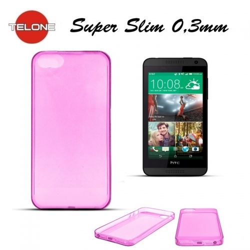 Telone Ultra Slim 0.3mm Back Case HTC Desire 816 super plāns telefona apvalks Rozā