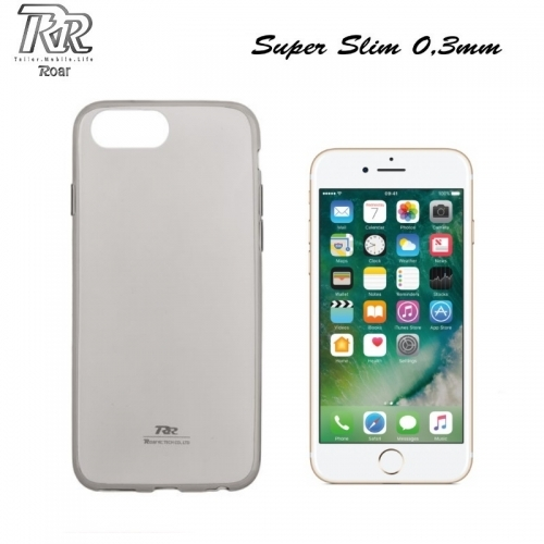 "Roar Super PlÄ?ns 0.3mm Premium KvalitÄ?tes Aizmugures Apvalks Apple iPhone 7 4.7"" CaurspÄ«dÄ«gi Melns (EU Blister)"